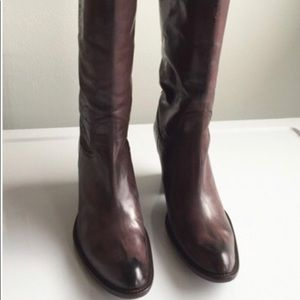 ANTHROPOLOGIE tooled leather boots By Sinela